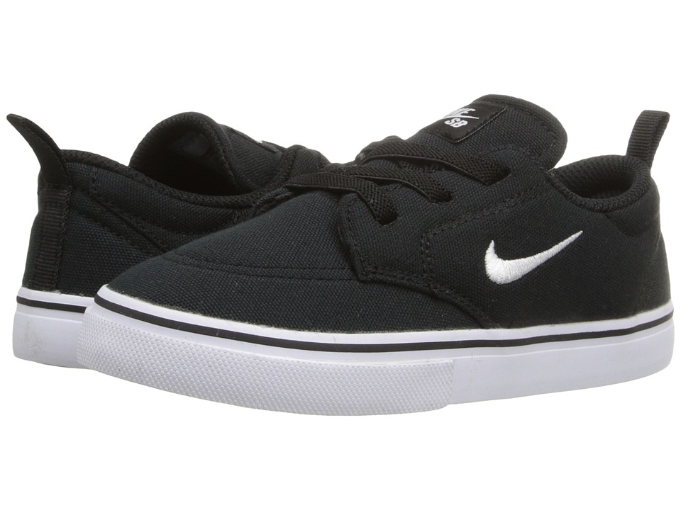 Nike SB Kids SB Clutch Infant/Toddler Black/White Boys Shoes