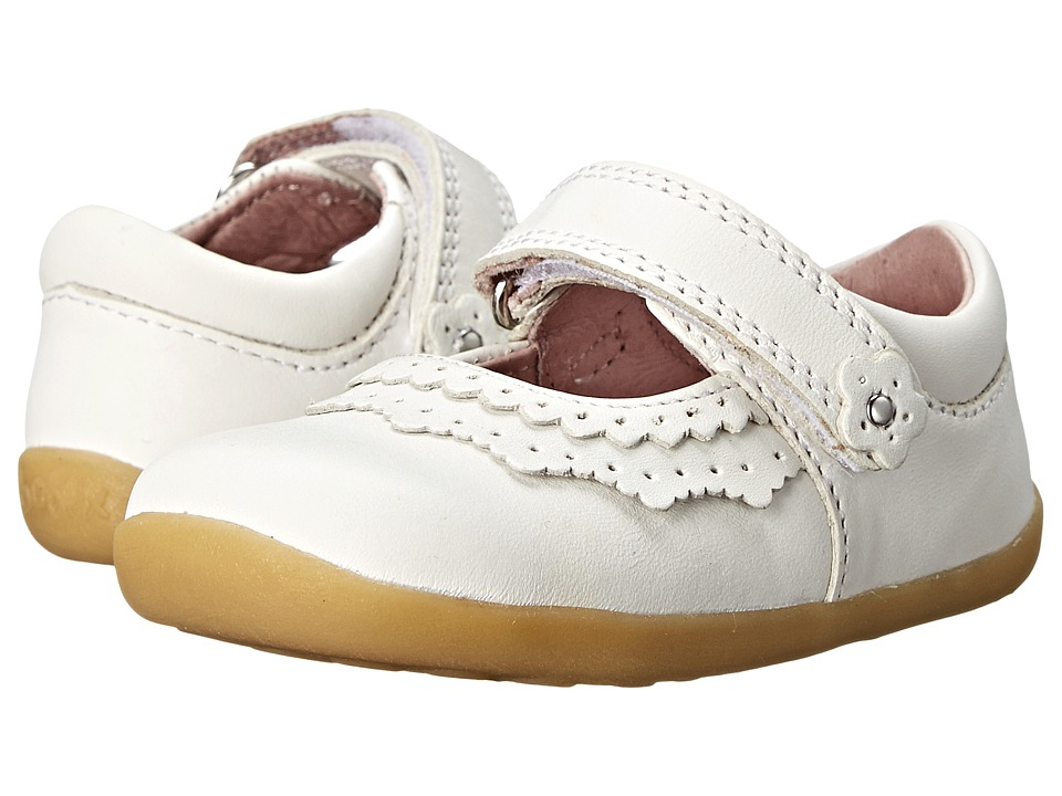 Bobux Kids Step Up Dollhouse Mary Jane Infant/Toddler White Girls Shoes