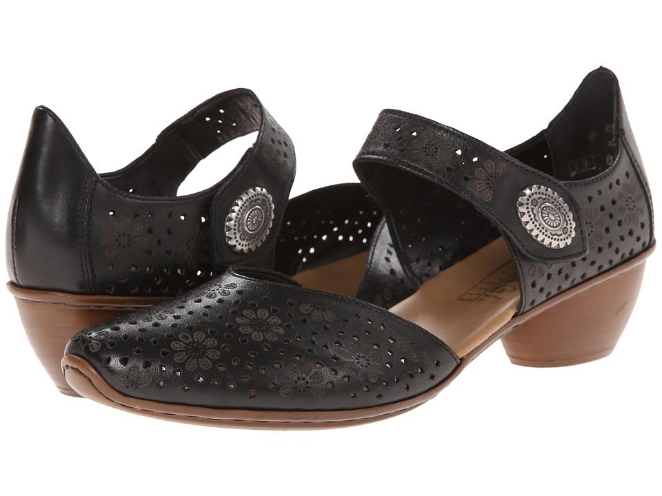 Rieker 43711 Mirjam 11 (Black) 1-2 inch heel Shoes