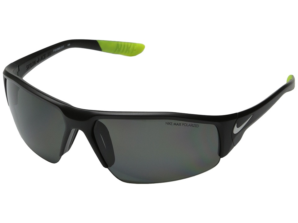 Nike - Skylon Ace XV P (Matte Black/White) Fashion Sunglasses
