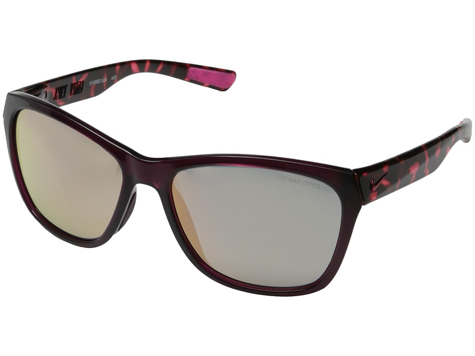 Nike Vital R (Crystal Deep Burgundy/Hyper Pink Tortoise) Fashion Sunglasses