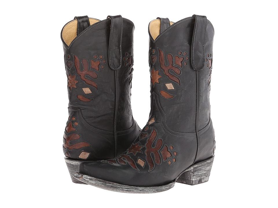 Old Gringo - Kerville (Black/Brass) Cowboy Boots