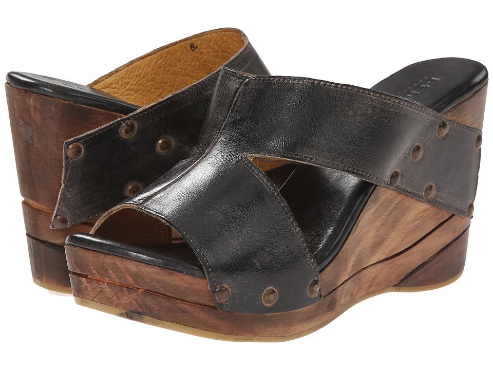 Bed Stu Olea Black Rustic Rust BFS Womens Wedge Shoes