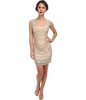 Adrianna Papell - Short Beaded Dress with Illusion