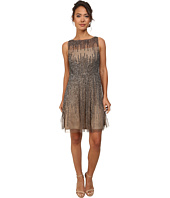 Adrianna Papell - Short Sleeveless Beaded Party Dress