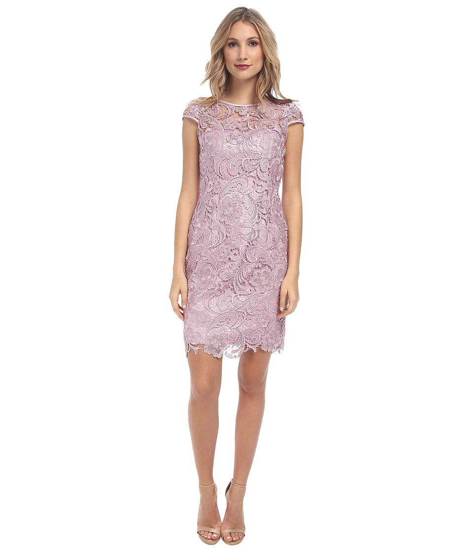 Adrianna Papell Cap Sleeve Dress Icy Lilac Womens Dress