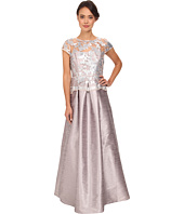 Adrianna Papell - Cap Sleeve Sequin Ilusion Lace Duponi Gown