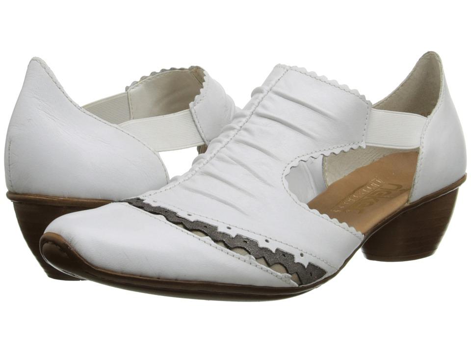 Rieker - 43783 Mirjam 83 (Weiss/Perle/Stromboli) Women's Slip on  Shoes