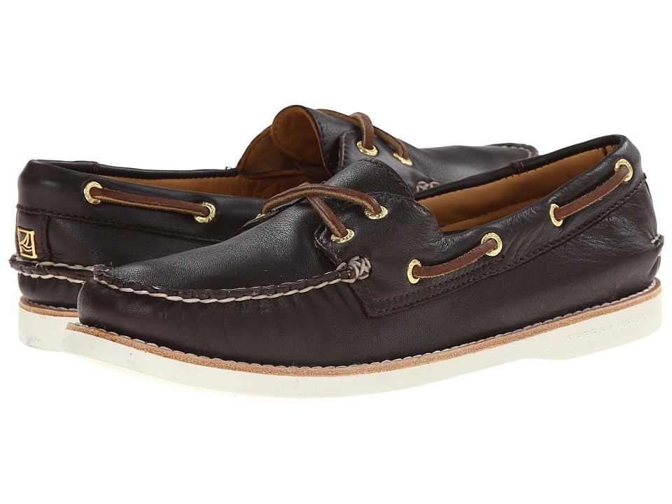 Sperry Top-Sider - Gold A/O 2-Eye Leather (Dark Brown) Women