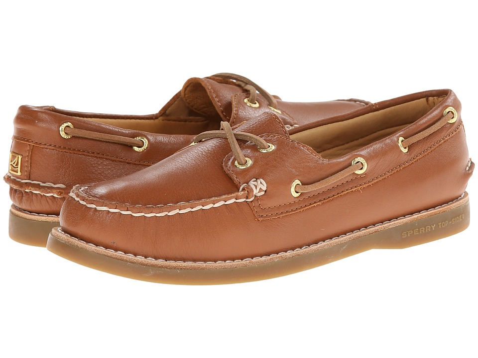 Sperry Top-Sider - Gold A/O 2-Eye Leather (Tan) Women