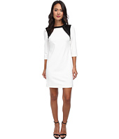 Donna Morgan - Three-Quarter Sleeve Crepe Shift