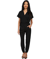 Donna Morgan - V-Neck Drape Jumpsuit