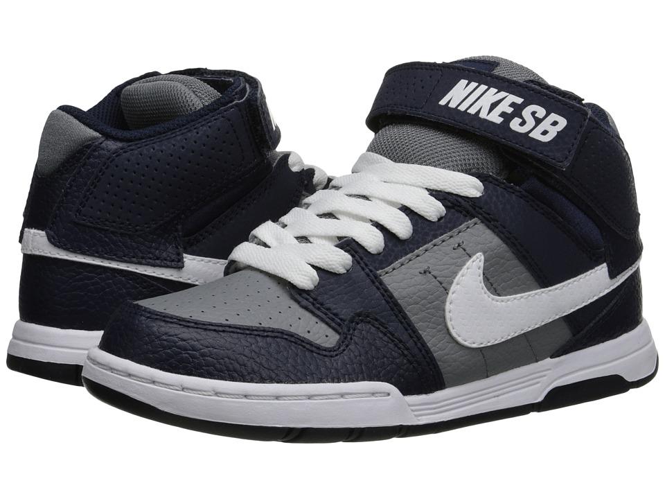 Nike SB Kids Mogan Mid 2 Jr Little Kid/Big Kid Cool Grey/White/Obsidian Boys Shoes