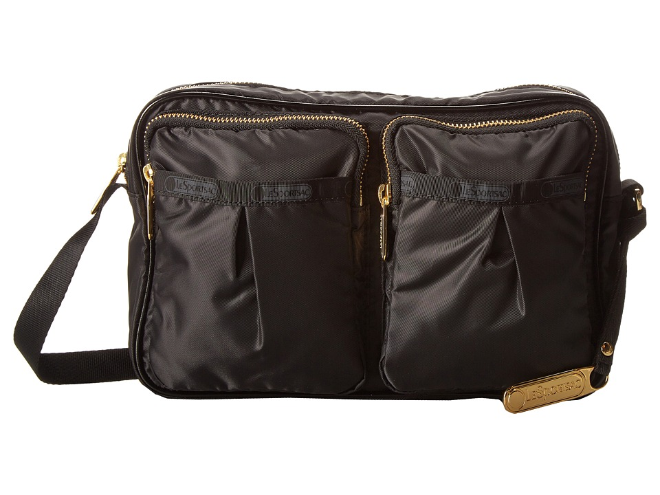 LeSportsac - Signature Kate Crossbody (Black Twill Cream) Cross Body Handbags