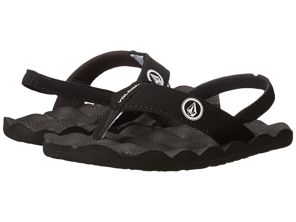 Volcom Kids Recliner (Toddler/Little Kid) (Black/White) Boys Shoes