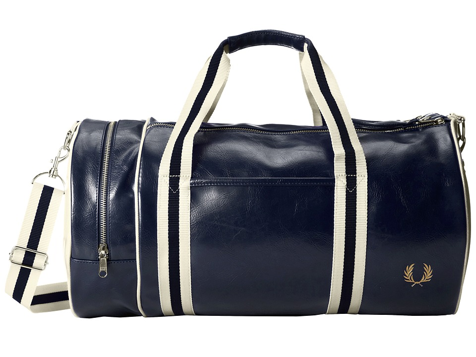 Fred Perry - Classic Barrel Bag (Navy/Ecru) Duffel Bags