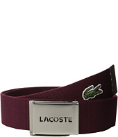 Lacoste - L.12.12 Textile Signature Croc Logo Belt