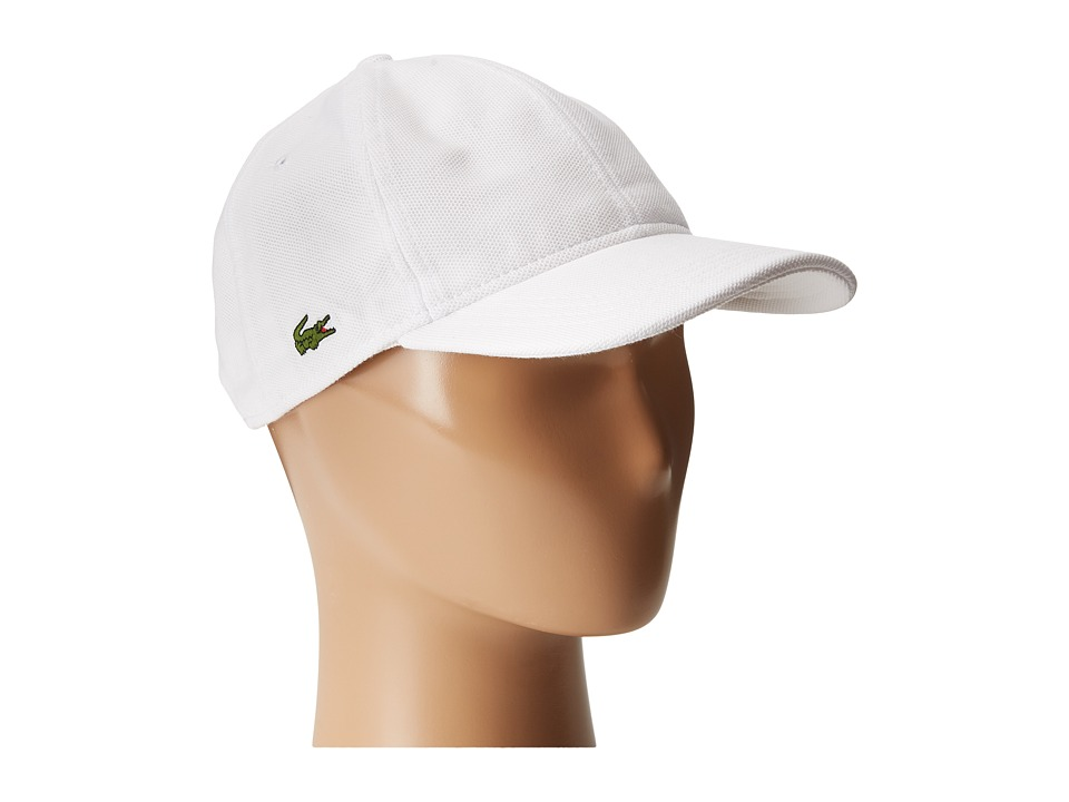 Lacoste Cotton Pique Cap White Caps