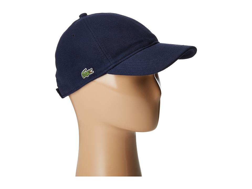 Lacoste Cotton Pique Cap (Navy Blue) Caps