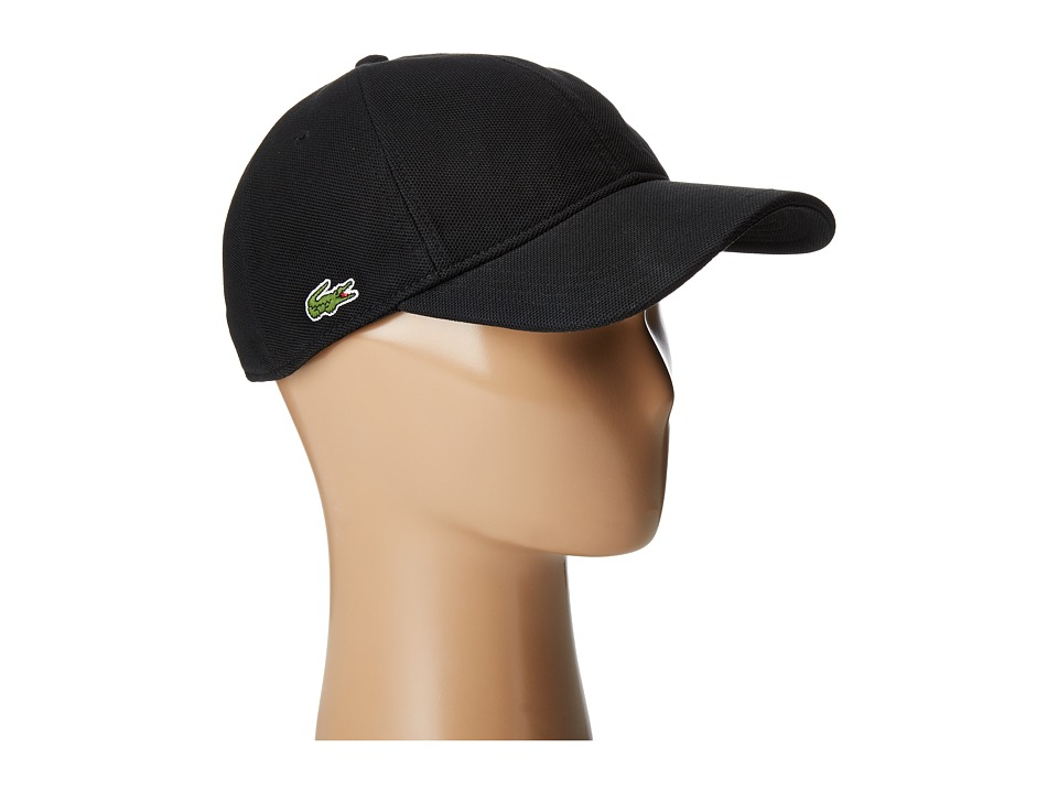 Lacoste Cotton Pique Cap (Black) Caps