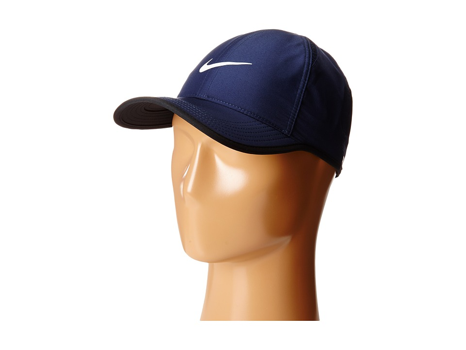 Nike Featherlight Cap Midnight Navy/Black/Midnight Navy/White Caps