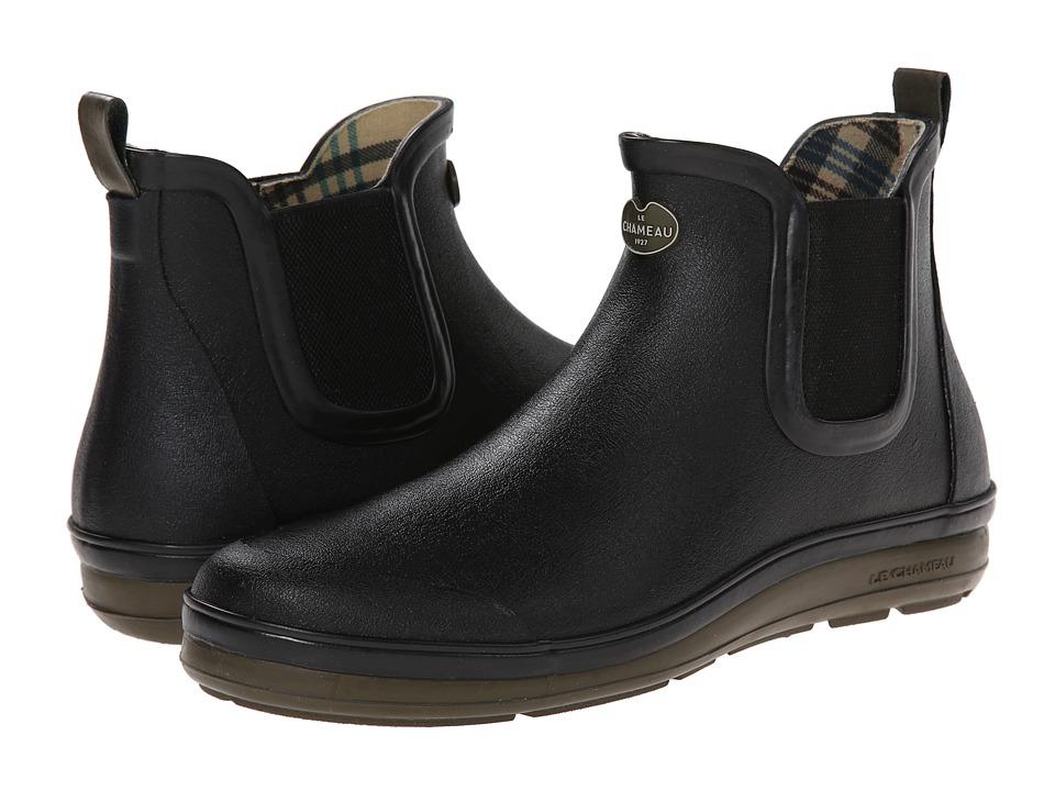 Le Chameau Belleville Chelsea Black/Chameau Green Womens Boots
