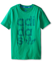 adidas Originals Kids - Reverse Print Wrap Logo Tee (Little Kids/Big Kids)