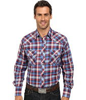 Roper - 9743 Blue & Red Plaid w/ Blue Lurex