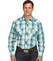 Roper - 9735 Big & Tall Green & Blue Plaid w/ Lurex