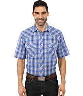 Roper - 9744 Blue & Grey Small Plaid w/ Lurex