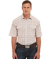 Roper - 9737 Brown & Tan Grid w/ Lurex