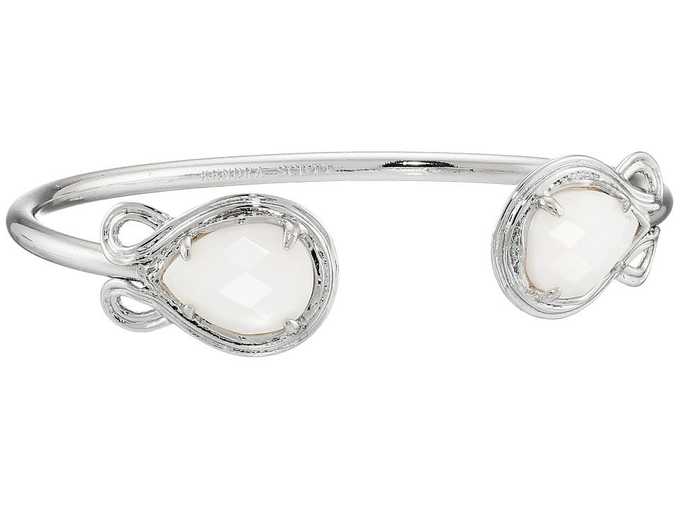 Kendra Scott Andy Bracelet Rhodium/White Mother of Pearl Bracelet