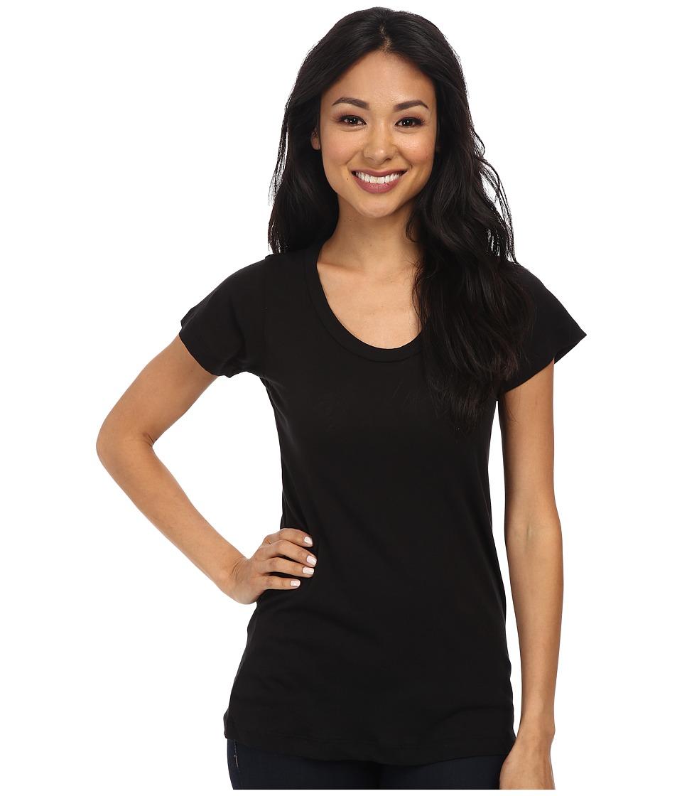 LNA - S/S Crew (Black) Womens Short Sleeve Pullover