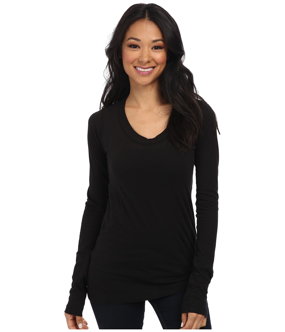 LNA 008 L/S Crew Black Womens Long Sleeve Pullover