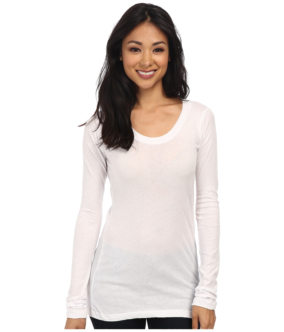 LNA 008 L/S Crew White Womens Long Sleeve Pullover