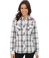 Roper - 9747 Black, Grey & White Plaid