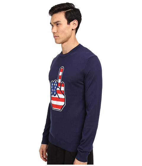 LOVE Moschino Middle Finger Sweater - 6pm.com