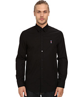 LOVE Moschino - Long Sleeve Black Patch Button Up