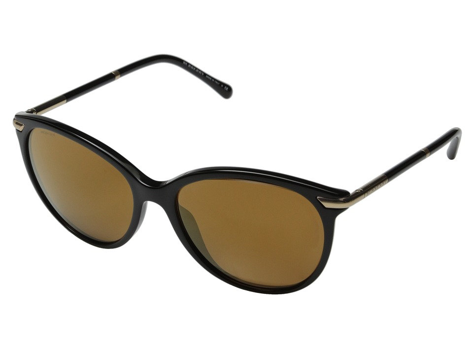 Burberry 0BE4186 Black/Brown Mirror Gold Fashion Sunglasses