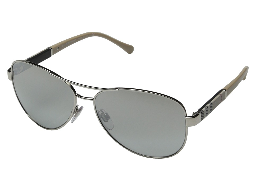 Burberry 0BE3080 Silver/Light Grey Silver Mirror Fashion Sunglasses