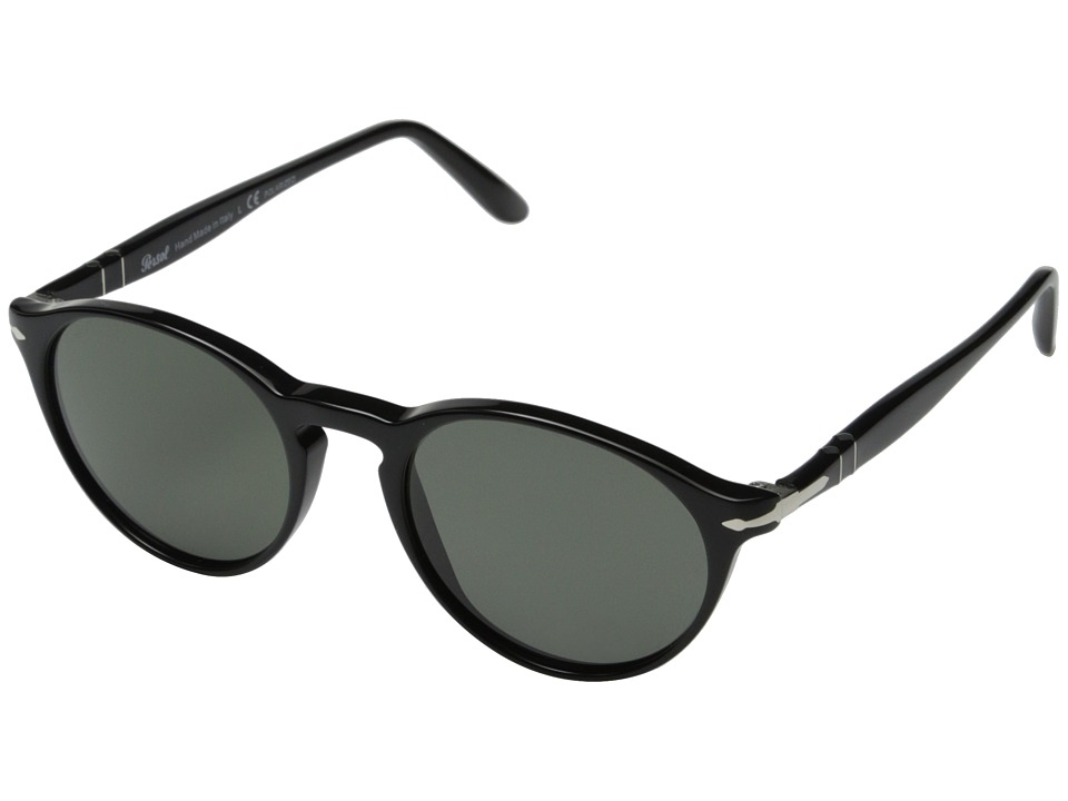 Persol 0PO3092SM Black/Polarized Green Fashion Sunglasses