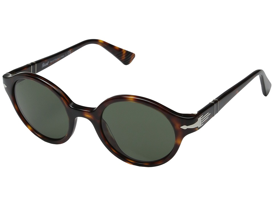 Persol - 0PO3098S (Havana/Green) Fashion Sunglasses
