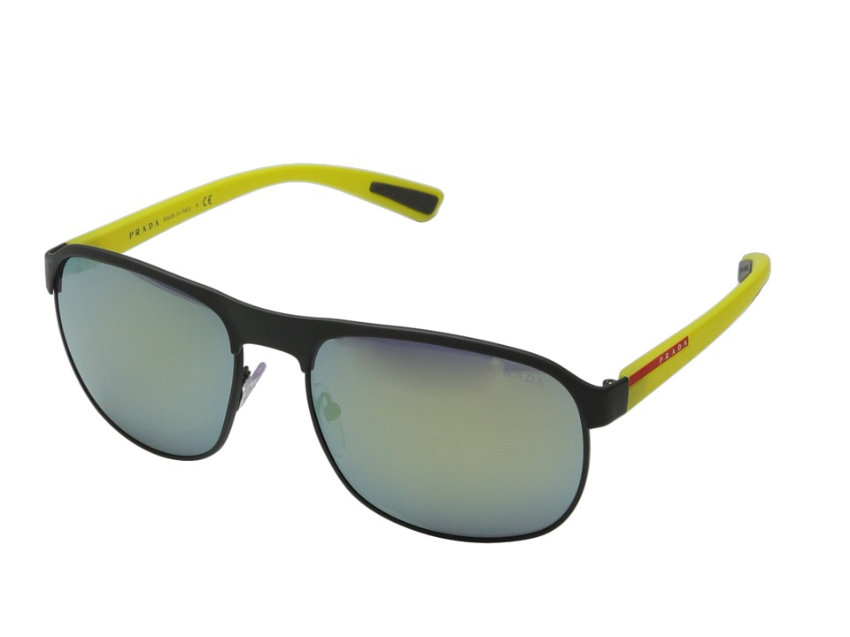 Prada Linea Rossa 0PS 51QS Grey Rubber/Yellow Fashion Sunglasses