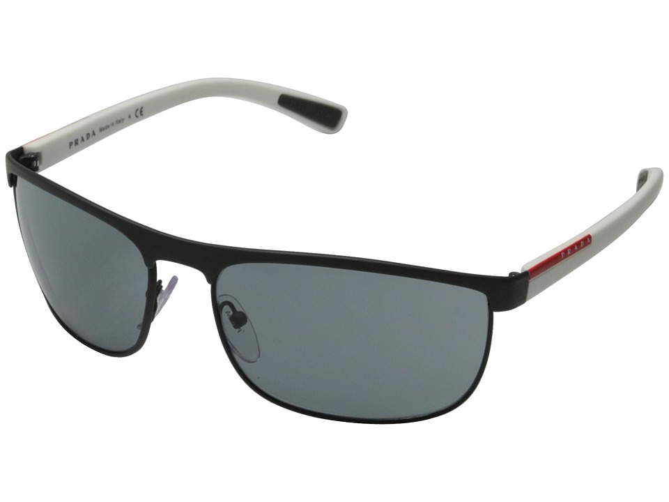Prada Linea Rossa 0PS 54QS Grey Rubber/White/Dark Grey Fashion Sunglasses