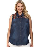 Roper - Plus Size 9633 5 Oz Indigo Denim Sleeveless Shirt