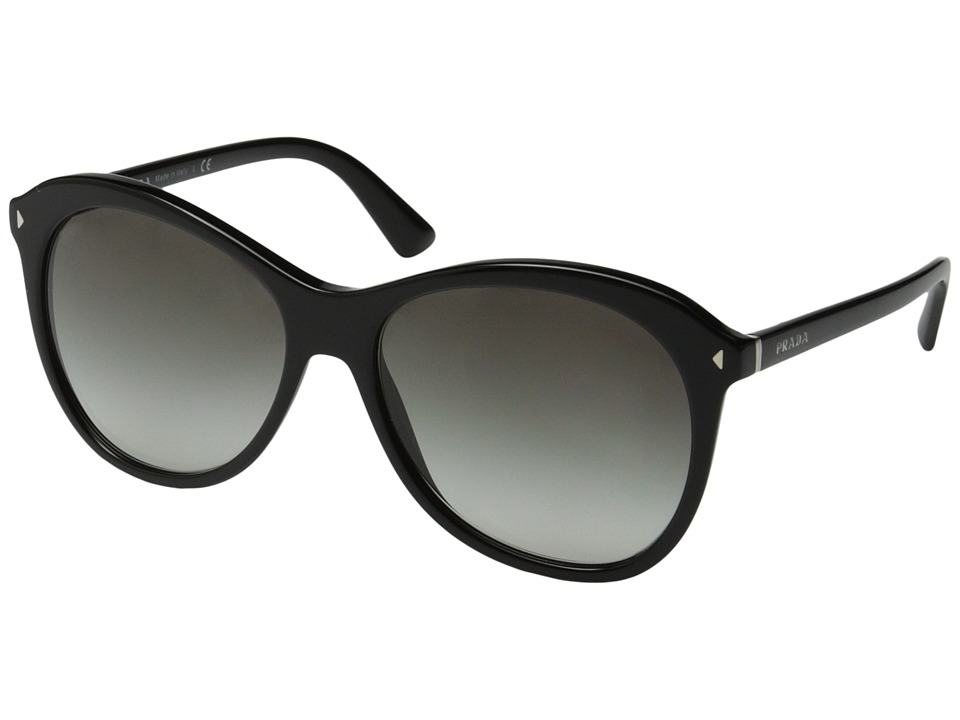 Prada 0PR 13RS Black/Grey Gradient Fashion Sunglasses