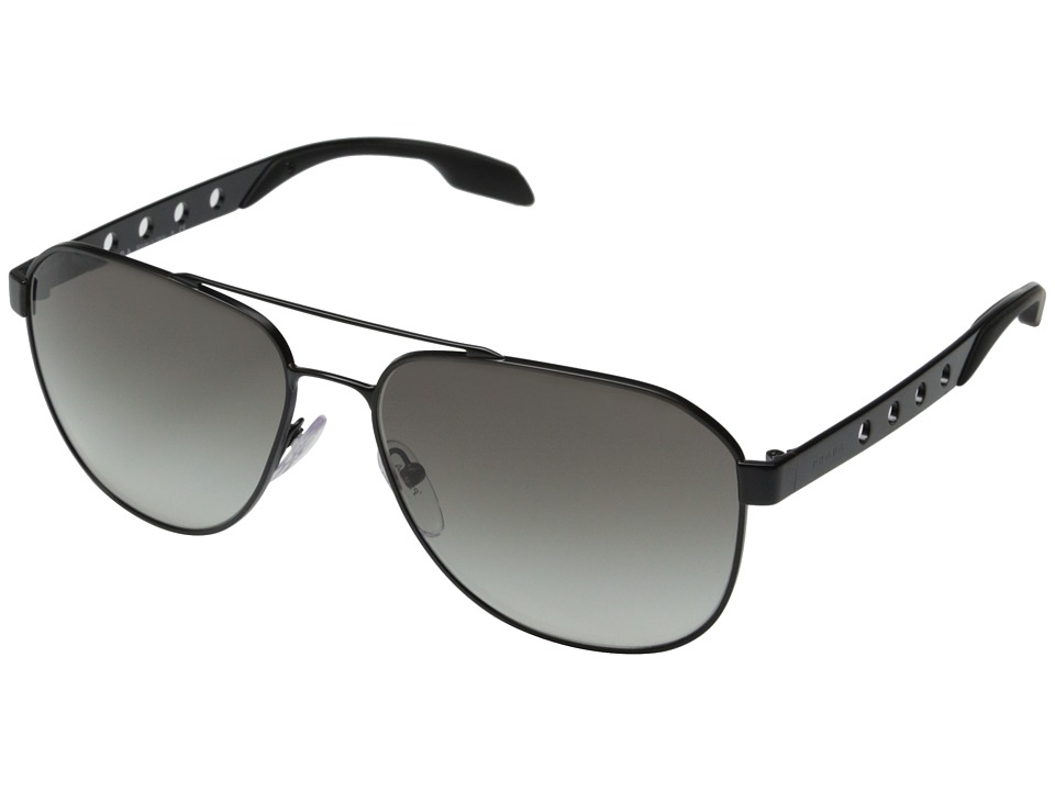 Prada 0PR 51RS Matte Black/Grey Gradient Fashion Sunglasses