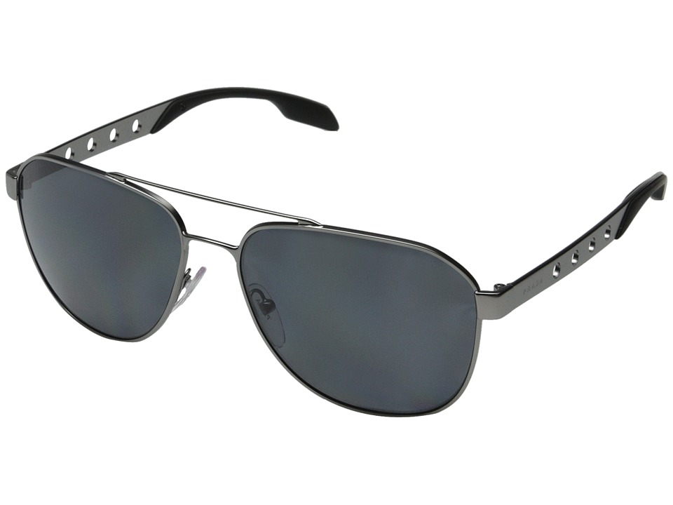 Prada 0PR 51RS Matte Gunmetal/Polarized Grey Fashion Sunglasses