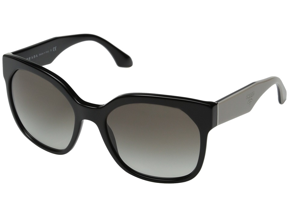 Prada 0PR 10RS Black/Grey Gradient Fashion Sunglasses