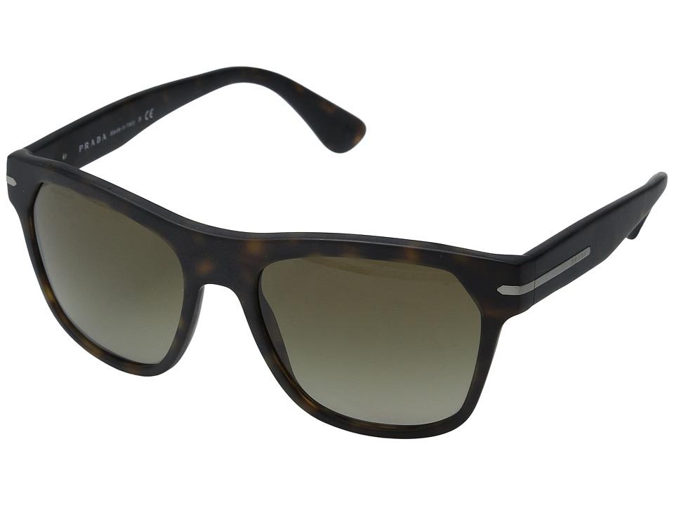 Prada 0PR 03RS Matte Havana/Brown Gradient Fashion Sunglasses